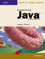 Fundamentals of Java: Comprehensive, 2nd Edition, 978-0-619-05962-0