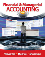 Study Guide, Chapters 1-15 for Warren/Reeve/Duchac's Financial & Managerial Accounting, 11th, ISBN-13: 978-0-538-48115-1