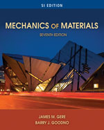 Mechanics of Materials, SI Edition, 7th Edition, 978-0-495-43807-6