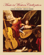 Workbook for Wright/Simms' Music in Western Civilization, Media Update, ISBN-13: 978-0-495-80186-3