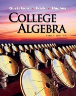 Student Solutions Manual for Gustafson/Frisk's College Algebra, 10th, ISBN-13: 978-0-495-55895-8