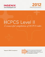 HCPCS Level II Professional 2012, 1st Edition, 978-1-60151-573-5