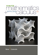 Finite Math and Applied Calculus, 6th Edition, 978-1-133-60770-0