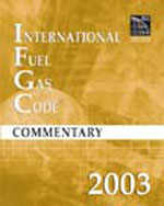 2003 International Fuel Gas Code Commentary, 1st Edition, 978-1-58001-132-7