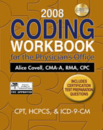2008 Coding Workbook for the Physician's Office, 1st Edition, 978-1-4354-2595-8