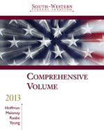 Bundle: South-Western Federal Taxation 2013: Comprehensive (with H&R Block @ Home Tax Preparation Software, RIA Checkpoint 12-month Printed Access Card for 2013 Tax Titles, CPA Excel), 36th + CengageNOW with eBook 2-Semester Printed Access Card, 978-1-285-04704-1