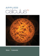 Applied Calculus, 6th Edition, 978-1-133-60768-7