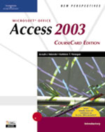 New Perspectives on Microsoft Office Access 2003, Introductory, CourseCard Edition , 1st Edition, 978-1-4188-3908-6