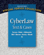 Bundle: CyberLaw: Text and Cases, 3rd + Business Law Digital Video Library Printed Access Card, 978-1-111-62698-3