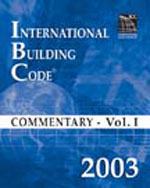 2003 International Building Code Commentary Volume 1, 1st Edition, 978-1-58001-127-3