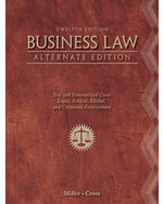 Bundle: Business Law, Alternate Edition, 12th + CengageNOW with eBook 2-Semester Printed Access Card, 978-1-133-28695-0
