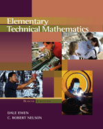 Elementary Technical Mathematics (with CengageNOW, Personal Tutor  Printed Access Card), 9th Edition, 978-0-495-01274-0