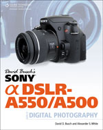 David Busch's Sony Alpha DSLR-A550/A500 Guide to Digital Photography, 1st Edition, 978-1-4354-5830-7