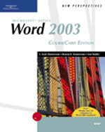 New Perspectives on Microsoft Office Word 2003, Brief, CourseCard Edition, 1st Edition, 978-1-4188-3909-3