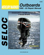 Mercury/Mariner Outboard All Engines 1990-2000, 1st Edition, 978-0-89330-051-7