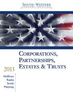 Bundle: South-Western Federal Taxation 2013: Corporations, Partnerships, Estates and Trusts (with H&R Block @ Home, CPA Excel and RIA Checkpoint Printed Access Card), 36th + WebTutor on WebCT with eBook on Gateway Printed Access Card, 978-1-285-04746-1