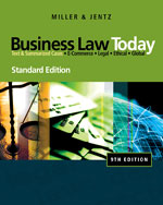 Study Guide for Miller/Jentz's Business Law Today, Standard Edition, ISBN-13: 978-0-324-78678-1