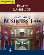 ePack: Cengage Advantage Books: Essentials of Business Law, 4th + Business Law CourseMate with eBook 1-Semester Instant Access Code, 978-1-285-26180-5
