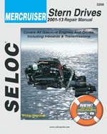 Mercruiser Stern Drives 2001  2008, 1st Edition, 978-0-89330-068-5