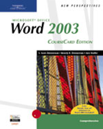 New Perspectives on Microsoft Office Word 2003, Comprehensive, CourseCard Edition, 1st Edition, 978-1-4188-3911-6