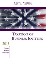 Bundle: South-Western Federal Taxation 2013: Taxation of Business Entities (with H&R Block @ Home Tax Preparation Software CD-ROM, RIA Checkpoint 6-Month Printed Access Card, CPA Excel), 16th + Aplia Printed Access Card, 978-1-285-04782-9