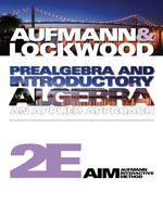 Student Solutions Manual for Aufmann/Lockwood's Prealgebra and Introductory Algebra: An Applied Approach, 2nd, ISBN-13: 978-0-8400-4930-8