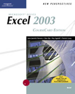 New Perspectives on Microsoft Office Excel 2003, Brief, CourseCard Edition, 1st Edition, 978-1-4188-3905-5