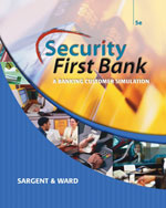 Security First Bank: A Banking Customer Simulation, 5th Edition, 978-0-538-44399-9