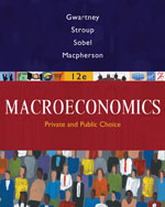 Coursebook for Gwartney/Stroup/Sobel/Macpherson's Macroeconomics: Public and Private Choice, ISBN-13: 978-0-324-58146-1