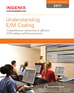 Ingenix Learning: Understanding E/M Coding 2011, 1st Edition, 978-1-60151-428-8
