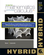 Finite Math and Applied Calculus, Hybrid, 6th Edition, 978-1-285-05636-4