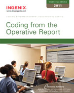 Ingenix Learning: Coding from the Operative Report 2011, 1st Edition, 978-1-60151-423-3