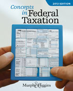 ePack: Concepts in Federal Taxation 2013 (with H&R BLOCK At Home Tax Preparation Software CD-ROM, RIA CheckPoint Printed Access Card, and CPA Excel Printed Access Card). 20th +CengageNOW with eBook 1-Semester Instant Access Code, 978-1-285-57736-4