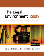 ePack: The Legal Environment Today: Business In Its Ethical, Regulatory, E-Commerce, and Global Setting + WebTutor on Blackboard 1-Semester Instant Access Code, 978-1-285-04085-1
