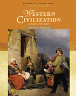 Western Civilization: A Brief History, Volume II: Since 1500, 4th Edition, 978-0-495-09975-8