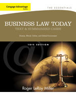 ePack: Cengage Advantage Books: Business Law Today: The Essentials, 10th + Business Law Digital Video Library 1-Semester Instant Access Code, 978-1-285-49107-3