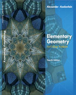 Student Study Guide with Solutions Manual for Alexander/Koeberlein's Elementary Geometry for College Students, 4th, ISBN-13: 978-0-618-64526-8