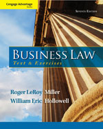 CengageNOW with eBook and Business Law Digital Video Library Instant Access Code for Miller/Rogers/Hollowell's Cengage Advantage Books: Business Law: Text and Exercises, 7th Edition, 978-1-285-18828-7