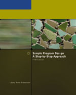 Simple Program Design, A Step-by-Step Approach, Fifth Edition, 5th Edition, 978-1-4239-0132-7