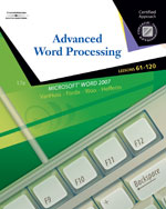 Advanced Word Proces…,9780538730259