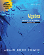 Bundle: Algebra: Beg…,9781111019198