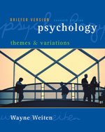 Psychology: Themes a…,9780495100584