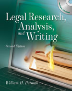 Legal Research, Anal…,9781428304420