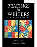 Readings for Writers…,9780838405468
