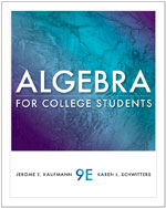 Algebra for College …