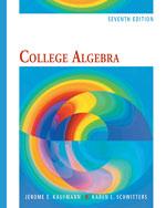College Algebra, 7th…,9780495554035
