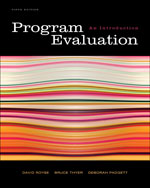 Program Evaluation: …, 9780495601661