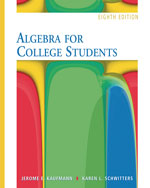 Algebra for College …,9780495105107