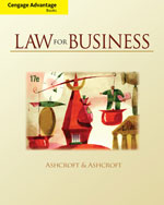 Study Guide with Workbook for Ashcroft/Ashcroft's Law for Business, ISBN-13: 978-0-324-82924-2