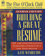 Building a Great Resume, 1st Edition, ISBN-13: 978-1-56414-433-1